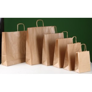 Bolsas TAKE AWAY con asa rizada 28X16X32
